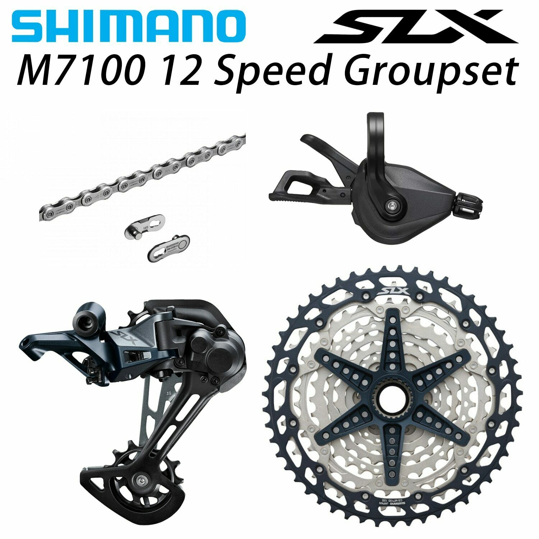 SHIMANO SLX M7100 1x12-Speed Shift Rear Derailleur Crankset Groupset 170MM//175MM