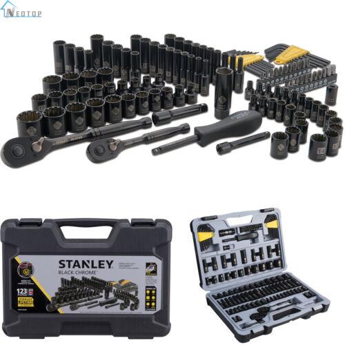 Stanley STMT72254W 123pc Black Chrome Universal Mechanic's T