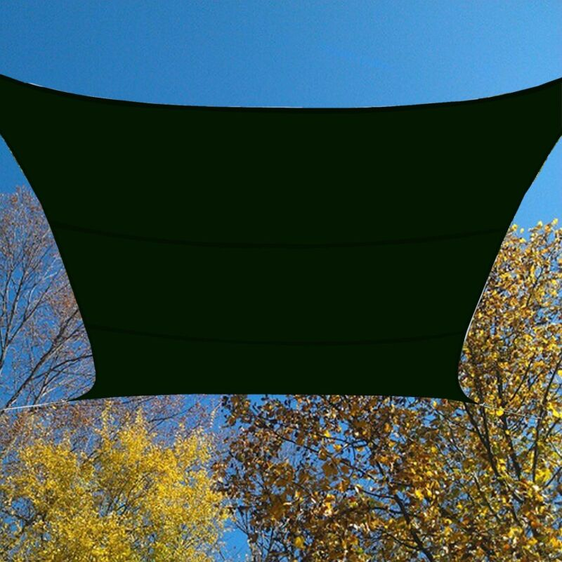 FOREST GREEN WATERPROOF SUN SHADE SAIL UV BLOCKING CANOPY COVER 12x12 FT SQUARE