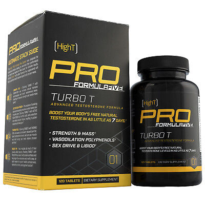 High T PRO TURBO T - Advanced Natural Testosterone Booster w/ Fenugreek - 30