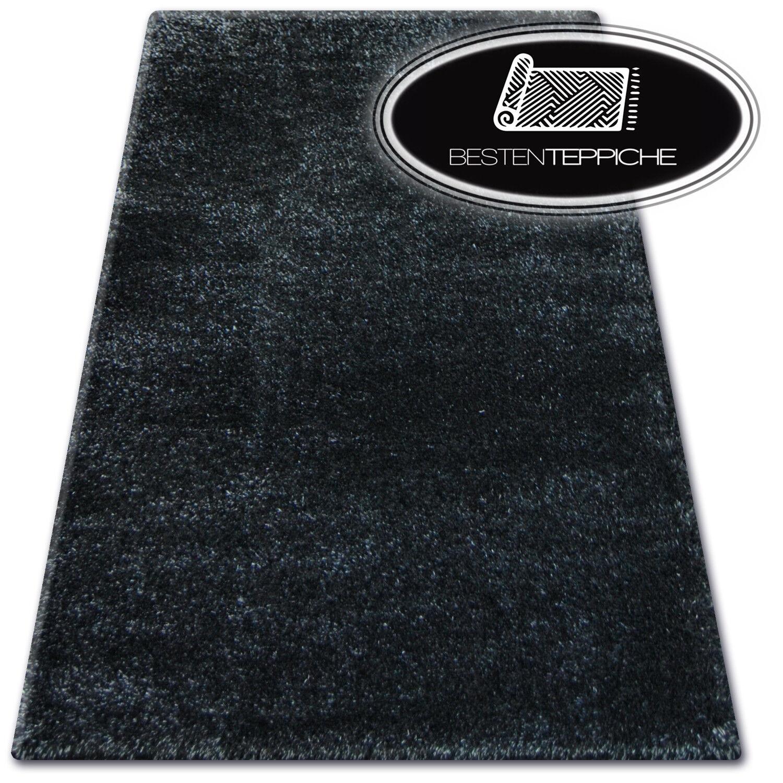 """billig weich teppiche """"SHAGGY NARIN"""" schwarz- 160 x 220 cm - GROßER VERKAUF -70%"""