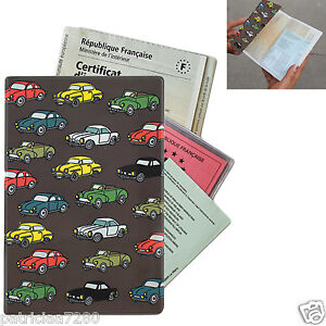 etui a papiers de voiture auto retro carte grise assurance permis valerie nylin ebay. Black Bedroom Furniture Sets. Home Design Ideas