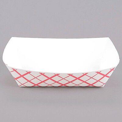 Case of 125 Paper Food Trays 2 lb (#200 Size) Hot Dog, Popcorn, Nacho, Burger](Hot Dog Paper Trays)