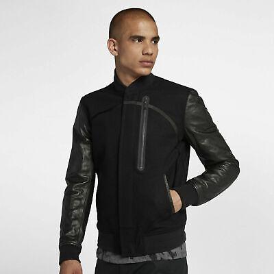 Nike Air Destroyer Varsity Jacket - CHOOSE SIZE - 857499-010 Bomber Leather Wool Nike Wool Jacket