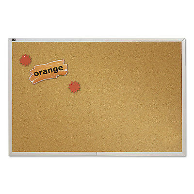 Quartet Natural Cork Bulletin Board 96 X 48 Anodized Aluminum Frame Ecka408
