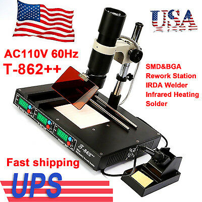 Original T-862smdbga Rework Station Irda Welder Infrared Heating Solder Us