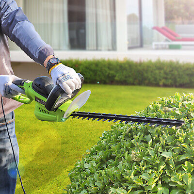 Garden Gear Rotating Hedge Trimmer Handle Electric Powered 600W Long Reach Blade
