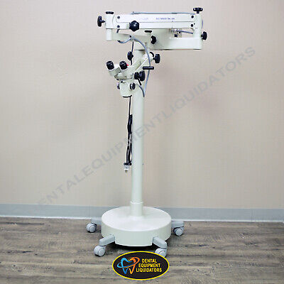 Dental Surgical Laboratory Microscope D.f. Vasconcellos M900 Mobile On Stand