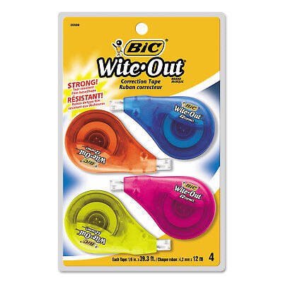 Bic Wite-out Ez Correct Correction Tape Non-refillable 16 X 400 4pack