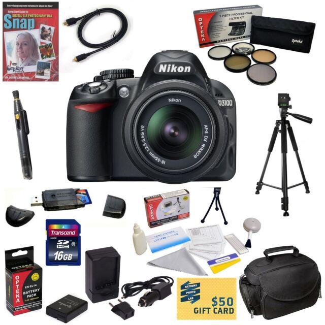 Nikon D3100 Digital SLR Camera w 18-55mm VR Nikkor Zoom Lens & Best Value Bundle