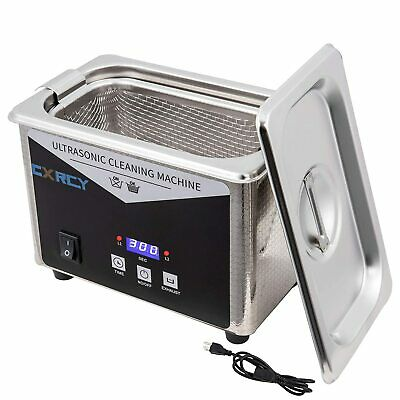 0.8l Commercial Ultrasonic Cleaner Industry Wtimer Jewelry Ring Parts Glasses