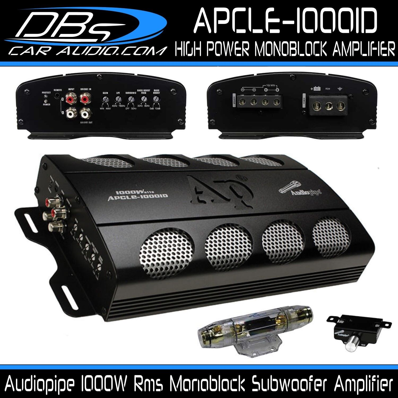 Audiopipe APCLE-10001D Monoblock Subwoofer Amplifier 1000W R