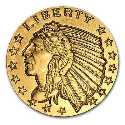 1 oz Gold Indian Head Round - Incuse Indian Head Design - SKU #85328