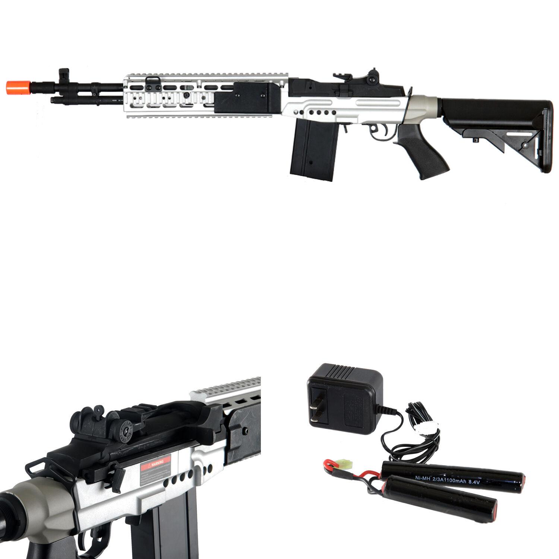 *400 FPS* Cyma M14 EBR RIS AEG Scout Airsoft Sniper Rifle ... M14 Ebr Sniper Rifle