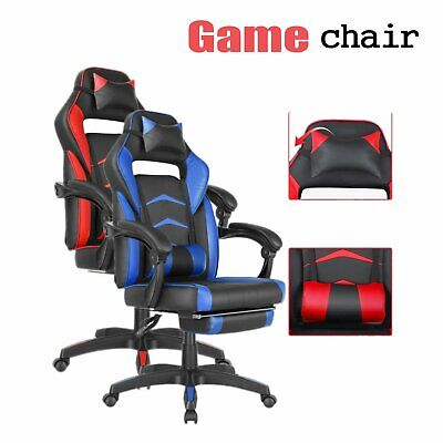 Office Gaming Chair Ergonomic Height Adjustable High Back Racing Style Recliner
