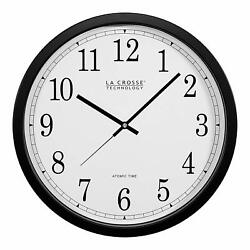 Large Number Atomic Wall Clock  Radio Signal Accuracy  4 US Timezone 14 Inch Dia