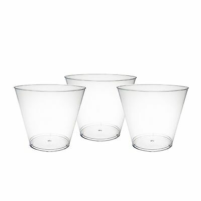 200-500 Piece Hard Plastic, Party Cups/Old Fashioned Tumblers, 9 Oz Clear  Clear Hard Plastic Cup