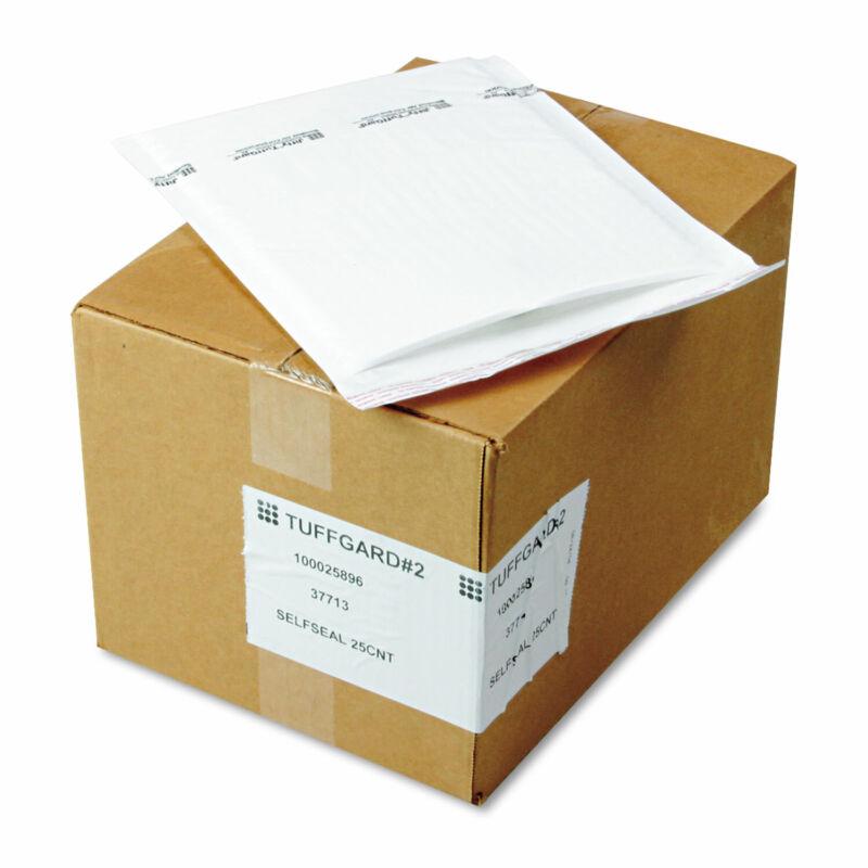 Sealed Air Jiffy TuffGard Self-Seal Cushioned Mailer #2 8 1/2 x 12 White 25