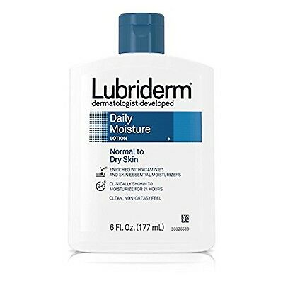 Lubriderm Daily Moisture Lotion for Normal to Dry Skin, 6 fl