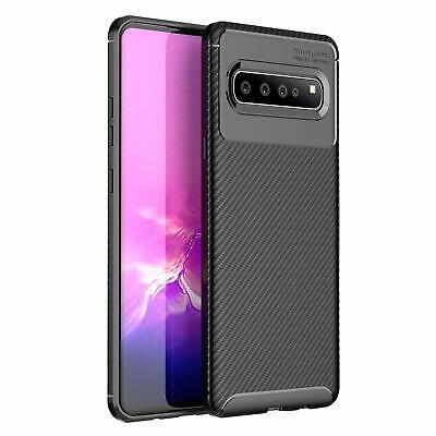 5g Cover (Samsung Galaxy S10 5G Hülle Schutzhülle Silikon Case Schwarz Cover Carbon Optik)