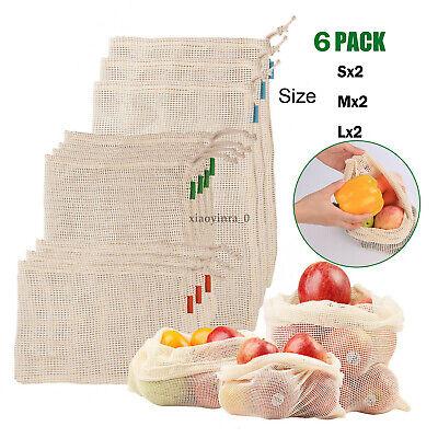 Reusable Mesh Produce Bags Fruit Vegetable Storage Shopping Eco Friendly US - Fruit Bag