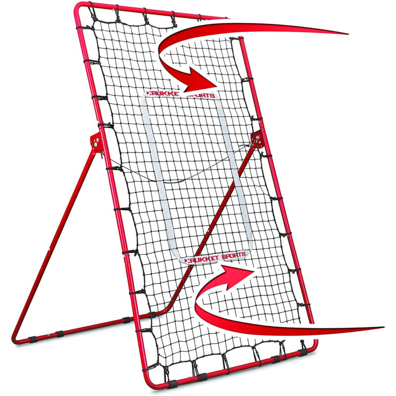 Rukket Sports Pitch Back Baseball and Softball Rebounder Practice Throwing Net