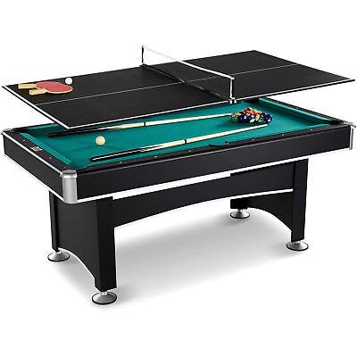 Arcade Billiard Table Pool Play Fun Games Table Tennis Top Accessory Kit 6 Ft