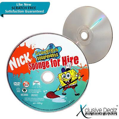 Spongebob Squarepants - Sponge for Hire DVD 2004 Children's Movie DISC ONLY - Spongebob Movie For Kids