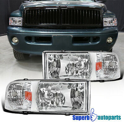 For 1994-2001 Dodge Ram 1500 2500 3500 1PC Headlights Head Lamps Replacement