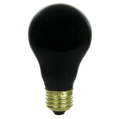 Sunlite Incandescent 75 Watt A19 Black Light Ceramic 1250 Lumens Light Bulb