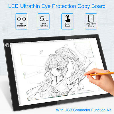 A3 LED Light Pad Box Drawing Tablet Tracing Tracer Copy Board Table Pad Portable for sale  USA