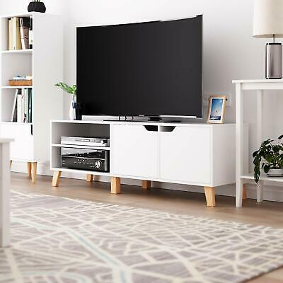 140CM Modern TV Stand Media Console Table Cabinet W/ Storage Shelf Living Room