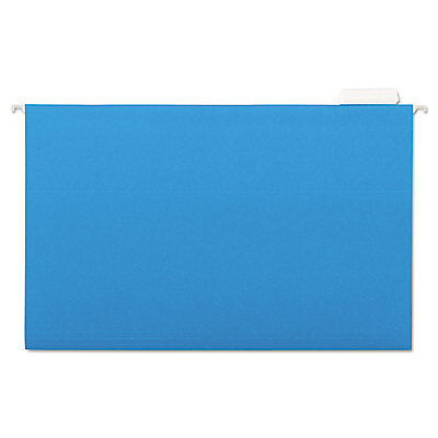 Universal Hanging File Folders 15 Tab 11 Point Stock Legal Blue 25box 14216