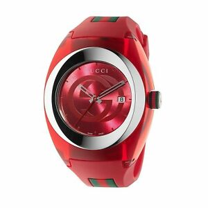 17055407674 Gucci Sync XXL Red Rubber Strap 46mm Unisex Watch YA137103 for sale ...