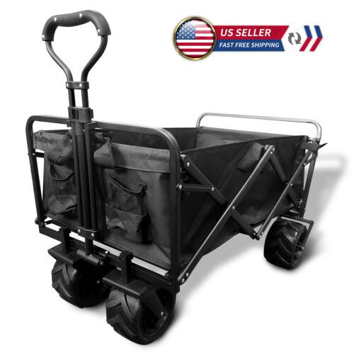 Heavy Duty Collapsible Wagon Cart Outdoor Folding Utility Camping Garden Wheels