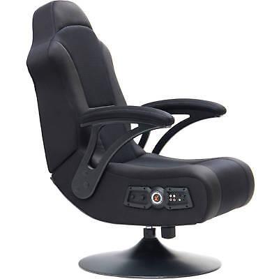 X Pro Video Rocker Swivel Pedestal Gaming Chair Bluetooth Wireless Sound NEW ()