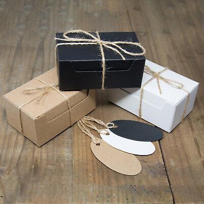 ECO KRAFT Small Rect Natural GIFT BOXES Wedding Favour | Includes - Small Wedding Favour Boxes