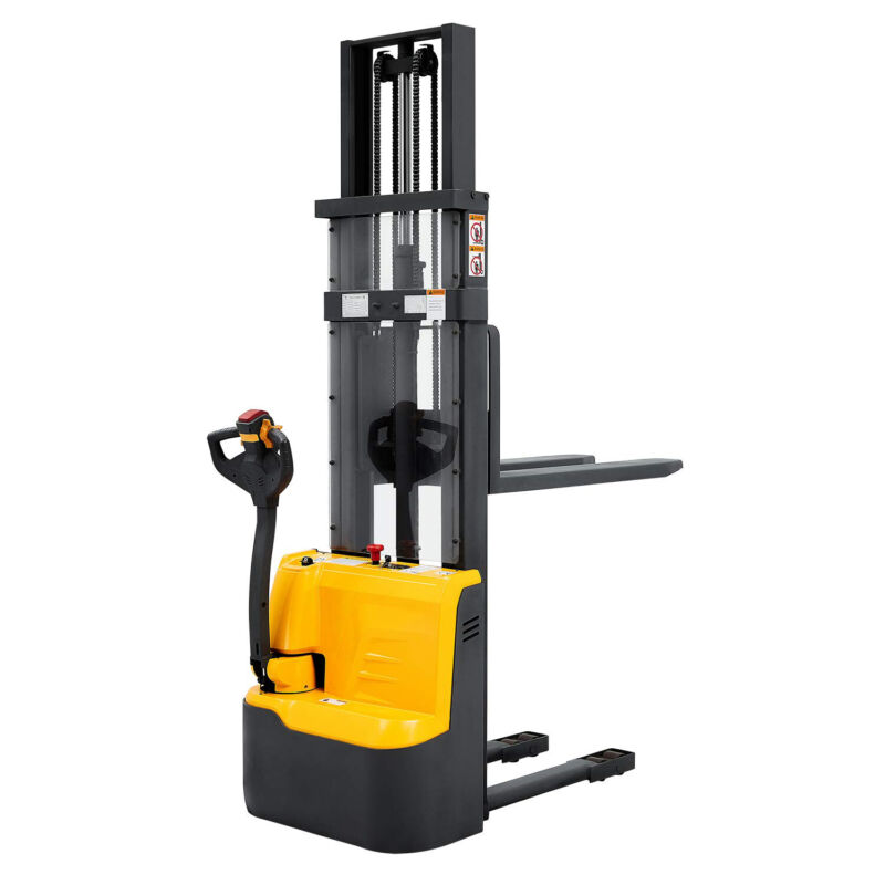 """Electric Walkie Pallet Jack Stacker Lift Height 118"""" 2200lbs Capacity"""
