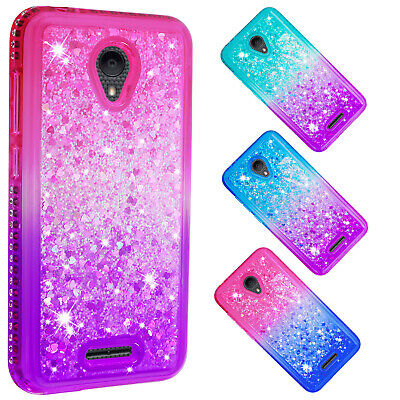 For Alcatel 3/Tetra/Verso Bling Liquid Glitter Dynamic Quicksand Phone -