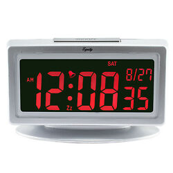 30451 Equity by La Crosse Electric Selectable Color LCD Display Alarm Clock