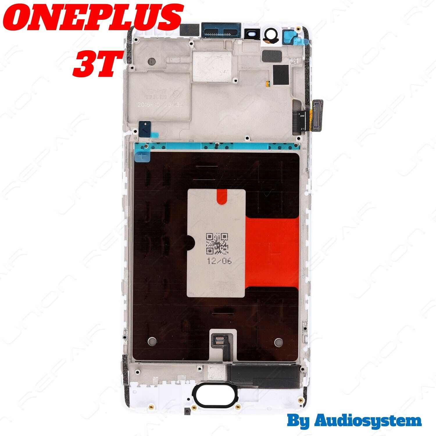 DISPLAY LCD+FRAME COVER PER ONEPLUS 3T A3010 TOUCH SCREEN VETRO BIANCO CORNICE