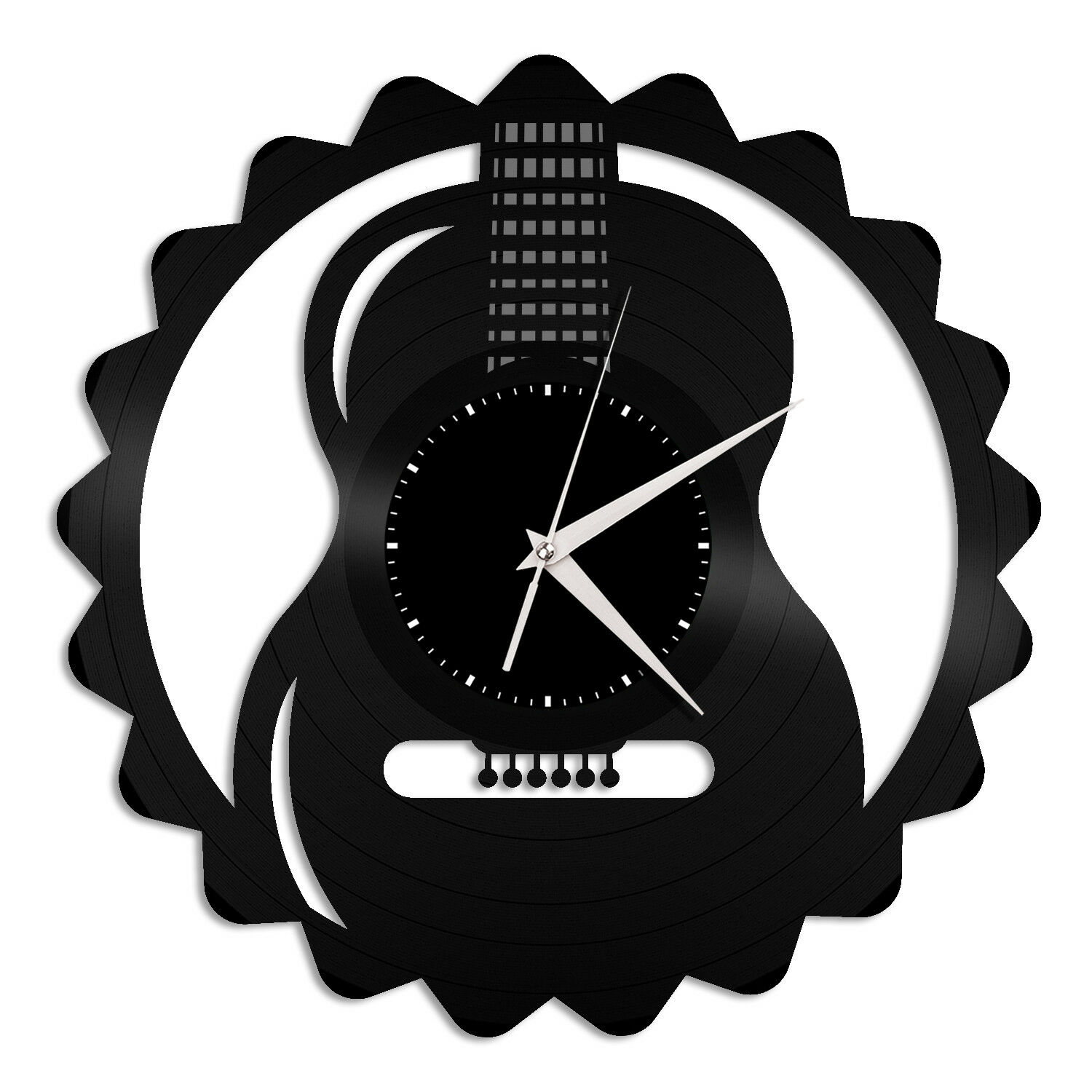35bed7967761 Details about Guitar Vinyl Wall Clock Unique Gift for Music Lovers Home  Vintage Decoration