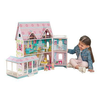 Abbey Manor Dollhouse with 16-piece accessory kit included by KidKraft
