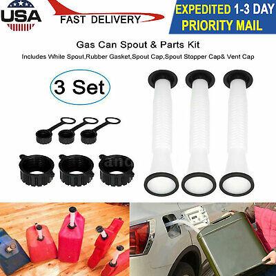 3 Pcs Replacement Spout Parts Kit For Rubbermaid Kolpin Gott Can Fuel Gas