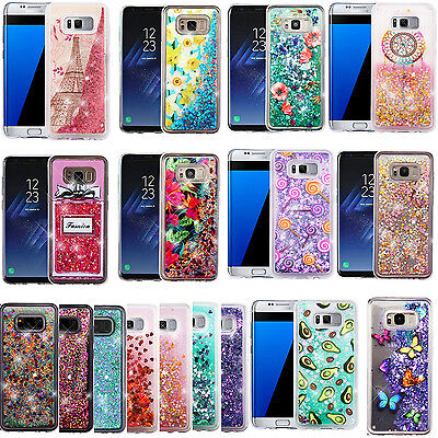 For Samsung Galaxy S8 PLUS Liquid Glitter Quicksand HARD Case Phone Cover