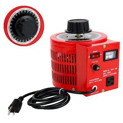10amp 1000w Auto Transformer Ac Variable Voltage Regulator Metered Ac 110v60hz