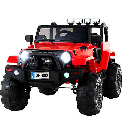 12V Electric Battery Kids Ride on Car Toys Truck LED MP3 With Remote Control Red ()