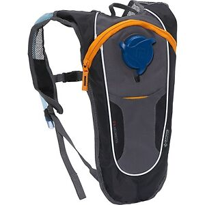 OUTDOOR-PRODUCTS-KILOMETER-8-0-2L-HYDRATION-BACK-PACK-BLACK-GREY-HIKING-CYCLING