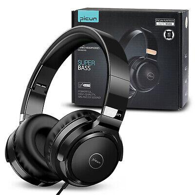 HiFi Over-Ear Stereo Headset Lightweight Headphones w/Microphone 3.5mm Earphone