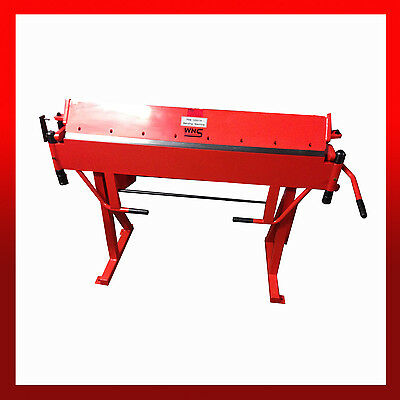 WNS Hand Sheet Metal Straight Folder Bender Brake 1250mm Long x 1.2mm Capacity